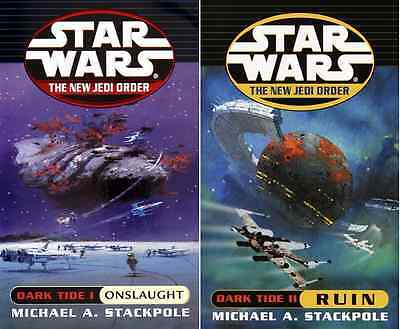 Star Wars: The New Jedi Orden Oscuro Tide 1&2 Onslaught & Ruin (Audio Casetes)