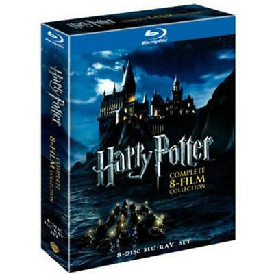 Harry Potter (Blu-Ray DVD) Complete 8 Film Collection Set NEW-SEALED