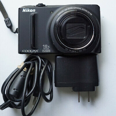 Nikon Coolpix S9100 12.1MP 1080P Black Digital Camera