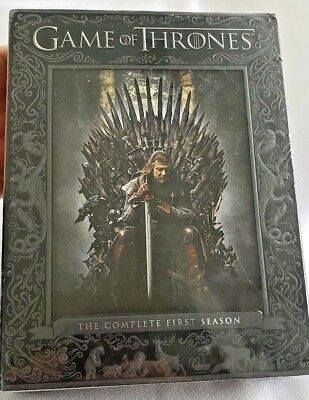Game of Thrones: The Complete First Season (DVD, 2012, 5-Disc Set) New Factory