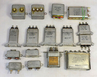 16 Vintage Cornell-Dubilier, Industrial, Aerovox Oil Capacitors