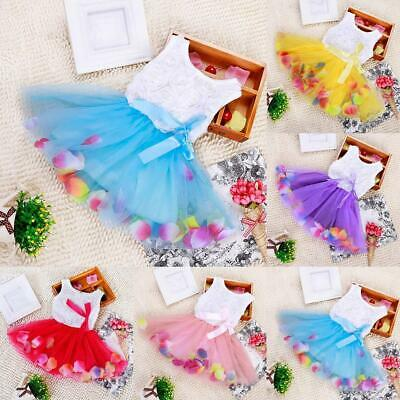 Butterfly Fancy Princess Baby Girls Ball Gown Lace Cotton Knee Length Dresses
