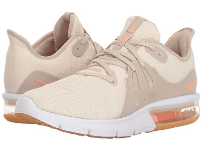 a68df74507 Women's Nike Air Max Sequent 3 Summer Running Shoes AO2675 Size 8 NWOB Tan  White