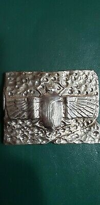 6 oztSilver Egyptian Scarab Beetle Hand Poured .999 Fine 3D Art bar ....