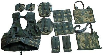 LOT 27 pc US Army Military ACU MOLLE FLC & Tactical Pouches & Grenadier Set NEW