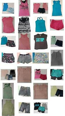 Girls Size 10/12 Summer Clothing, Shorts, Tops, Skirt, Clothes LOT, Justice