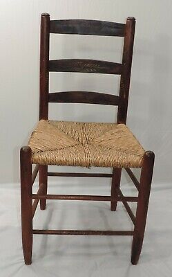 Hitchcock Chair Rush Seat With Stenciling 1930-1940S