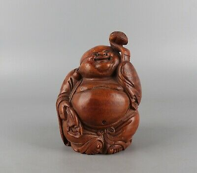 Chinese Exquisite Hand-carved Buddha Carving bamboo statue