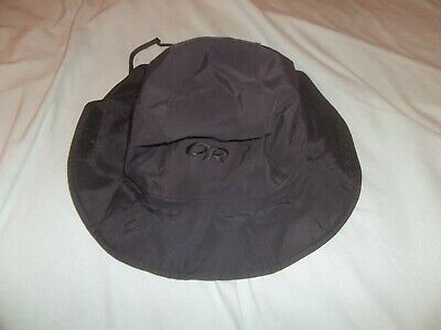 9dda15b6a974d Outdoor Research Seattle Sombrero Gore-tex Hat USA Made Black Logo Navy SEAL  Med