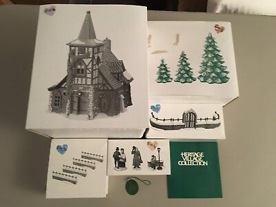 Dept 56 Heritage Village Collection Dickens Village Lot of 5 Bldg & Accessories