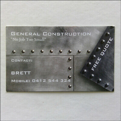 General Construction Bricklaying Paving Brett 0412544324 Business Card (Busc2)
