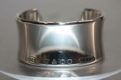 Authentic Tiffany & Co. 1837 Wide cuff Bangle Bracelet  925 Sterling Size Small