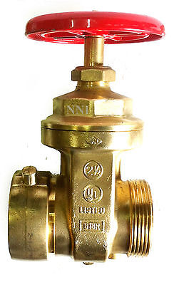 "2-1/2"" Hydrant Gate Valve Fem. Swivel x Male NYC NEW YORK CORP with Cap & Chain"