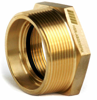 "NNI Fire Hose Hydrant Hexagon Bushing Adapter 2-1/2"" Female NST x 3"" Male NPT"