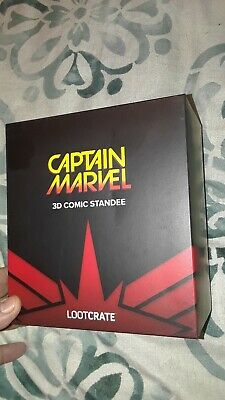 Captain Marvel 3D Comic Standee Loot Crate Exclusive March 2019 - NEW SEALED