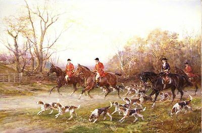 Hardy oil Painting repro The Start of The Hunt