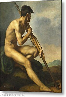 Theodore Gericault Nude Warrior with a Spear Handmade Oil Painting repro