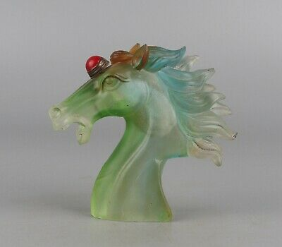 Chinese Exquisite Handmade horse Glass snuff bottle