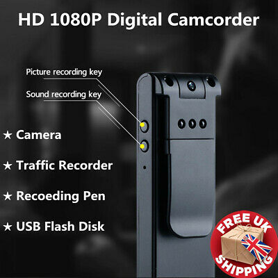 1080P HD Mini Police Body Camera Video DVR IR Night Cam 8-hour Motion Camcorder