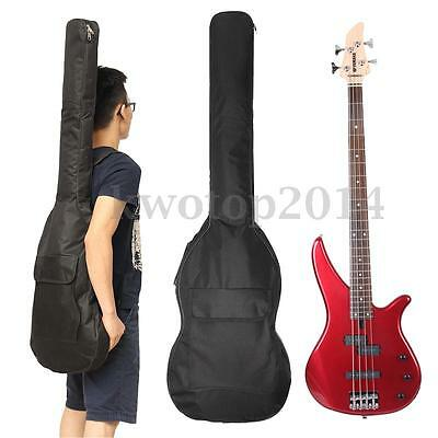 """41"""" Double Straps Electric Bass Guitar Bag Padded Soft Case Backpack Gig Bag"""
