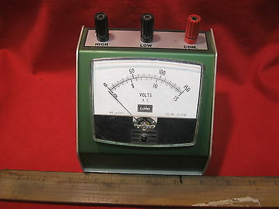 BenchTop LaPine AC Volt Meter 0-15, 0-150 Tested and working