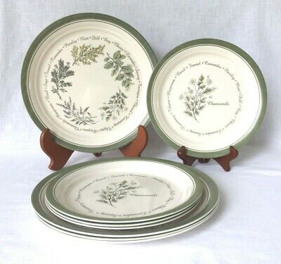 Discontinued Corelle THYMELESS HERBS Set of 4 each Dinner & Luncheon Plates