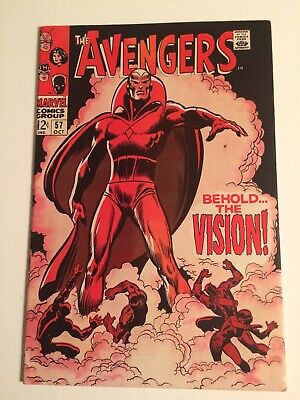 The Avengers #57 1st Appearance of The VISION! Silver Age Marvel Key!