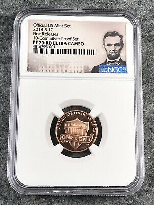 2018 S Lincoln Shield Cent NGC PF70 RD UCAM Proof First Release From 10 Coin Set