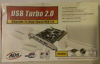 DOWNLOAD DRIVERS: ADS USB TURBO 2.0 PCI USBX-2000