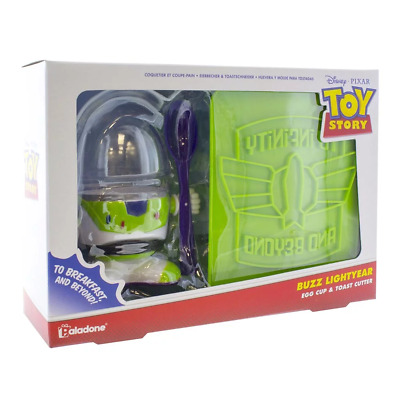 Toy Story Buzz Lightyear Egg Cup & Toast Cutter NEW
