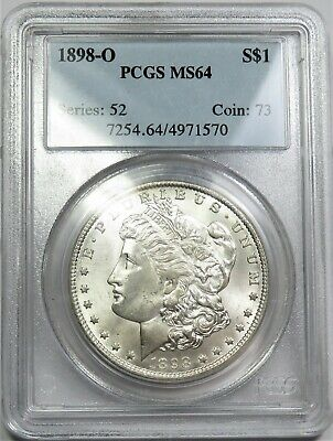 1898-O PCGS MS 64 Silver Morgan Dollar $1 US Coin Item #20180A