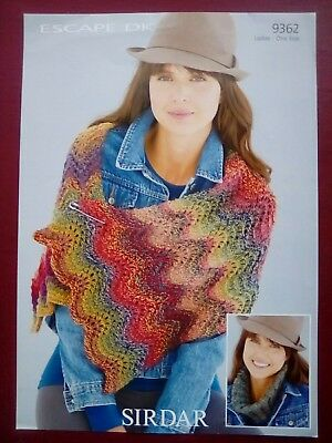 SIRDAR COLOURWHEEL SNOOD and Wrap Knitting Pattern 8031