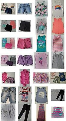 Girls Size 7/8 Summer Clothing, Shorts, Tops, Skirt, Dress, Clothes LOT, Justice