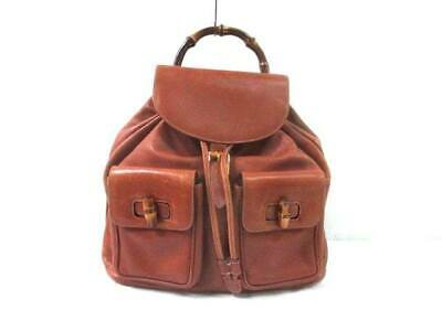 02d503d9219 GUCCI BACKPACK BAMBOO light brown suede leather Wood (N1029 ...
