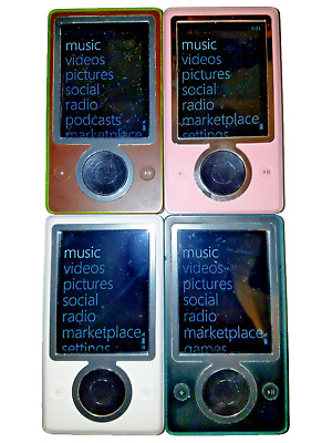 Microsoft  Zune  White, Black, Brown, Pink  30Gb...new Hard Drive!