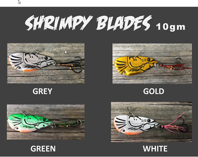 50mm / 10g 'SHRIMPY' Blade Lure ~ Suited to Yellowbelly, Redfin, Flathead ....
