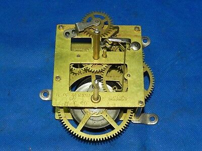 Antique Vintage I.W.T. India Wall Mantle Mantel Shelf Parlor Clock Movement