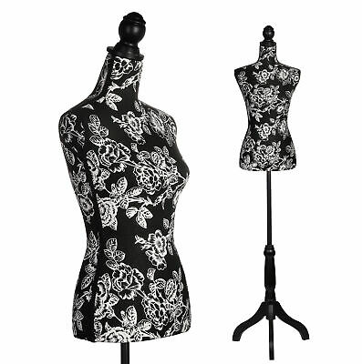 Female Dress Form Mannequin Adjustable Height Tripod Stand Woman Body Torso