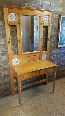 Timber, Mirrored Hall stand - Used Condition