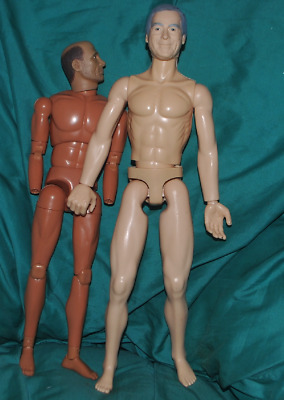 "Very Tall Old Man Male Nude Body and Head 1/6 scale 12"" Action Figure."
