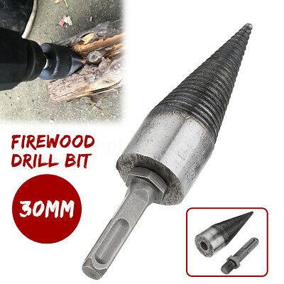 30mm Firewood Splitter Split Drill Bit Square SDS Plus Shank For Hammer Drill