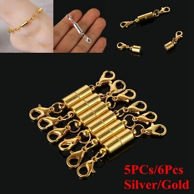 6Pcs Silver Gold For Necklace Bracelet Connector Hook Magnetic Clasps Buckle
