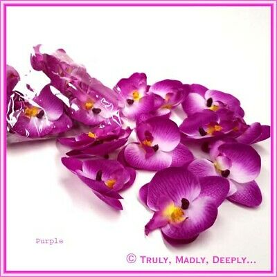 Flower Orchid Heads For Decorating Invites Or Tables - 24 Pack Lots of Colours