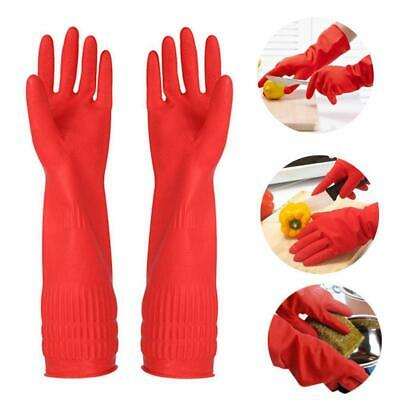 Kitchen Washing Gloves Long Waterproof Rubber Latex Dish Fruit Cleaning Tool