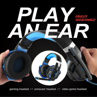 3.5mm Gaming Headset Mic LED G9000 Stereo Headphones for PC Laptop PS4 Xbox one#