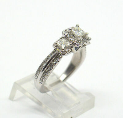 2.00 Ct Princess Cut Diamond Wedding Engagement Ring In 14K White Gold Finish