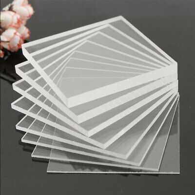 Clear Acrylic Perspex Sheet Cut To Size Plastic Plexiglass Panel DIY 1.5mm szw