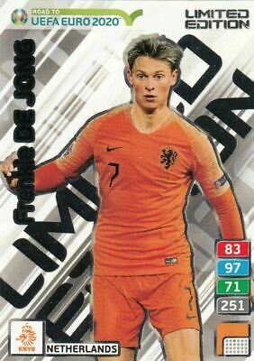 Card Panini Adrenalyn Road To Euro 2020 Limited Edition De Jong Netherlands