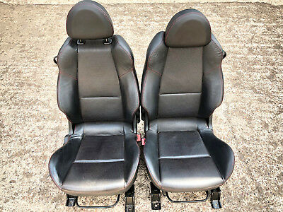 Mitsubishi Colt Czt Ralliart Front Left Right Full Black Leather Bucket Seats