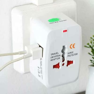 Universal Travel AC Power Charger Adapter Plug Converter 2 USB Port AU UK US-EU